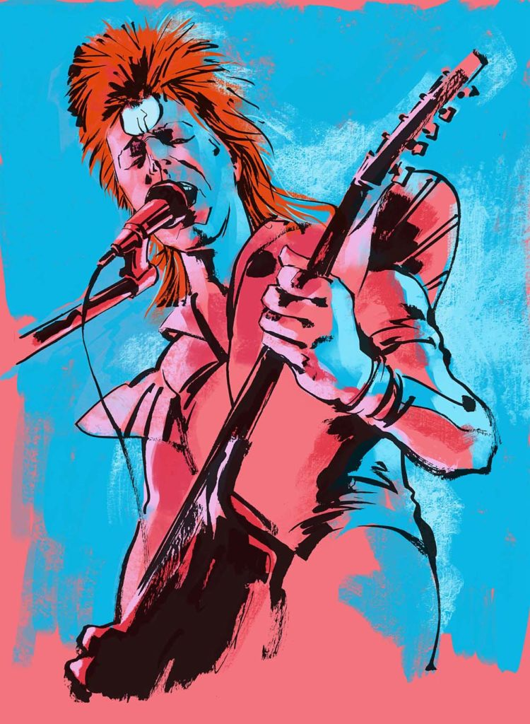 Ziggy Stardust in Pink