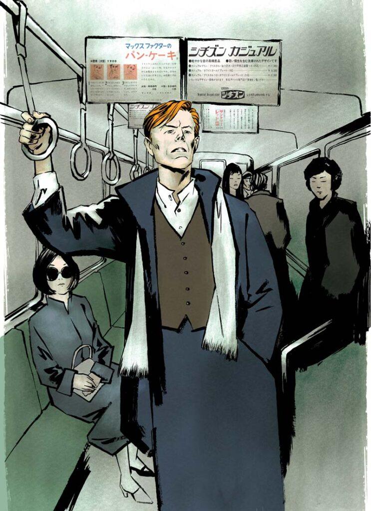 David Bowie in a Tokyo subway